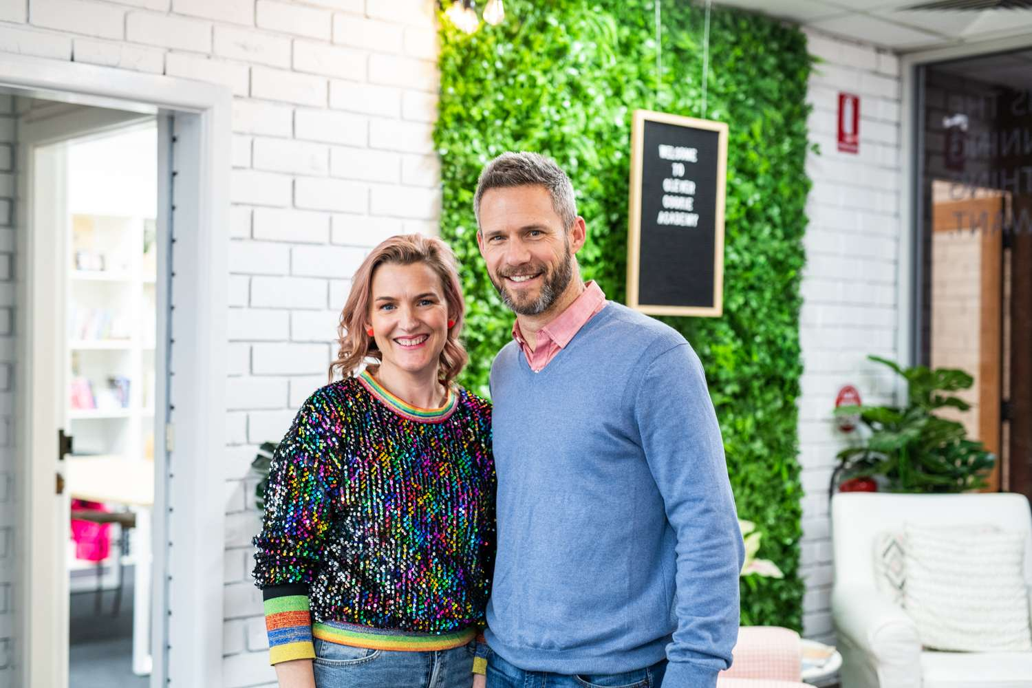 Photo of Peita and Rob Mages, founders of Clever Cookie Academy, Orange, NSW.